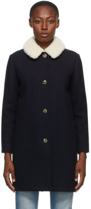 A.P.C. Navy New Doll Coat