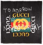 Gucci Printed Modal And Silk-blend Scarf - Black
