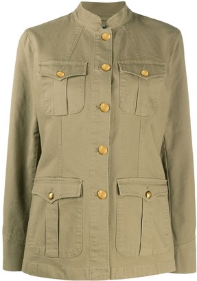 Lauren Ralph Lauren Mandarin Collar Military Jacket