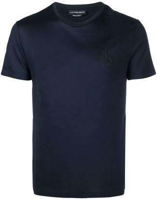 Alexander McQueen logo embroidered crew neck T-shirt