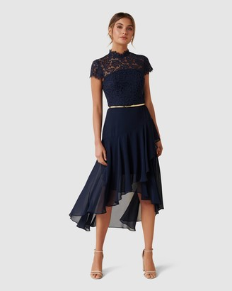 Forever New Cleo Lace 2 in 1 Midi Dress
