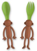 Fred & Friends Monkey Bite 2-Pack Fork and Spoon