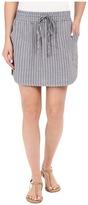 Allen Allen Stripe Linen Skirt