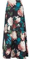 Sachin + Babi Pleated Floral-Print Duchesse Satin-Twill Maxi Skirt