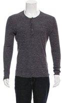 John Varvatos Silk-Blend Henley Sweater