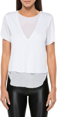 Koral Double Layer Tee with Mesh