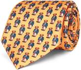 Ralph Lauren Preppy Bear Silk Narrow Tie