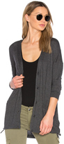 Splendid Cashmere Blend Lace Up Cardigan