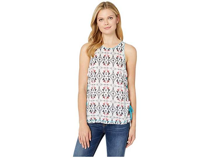 Rock and Roll Cowgirl Printed Tank Top 49-9360
