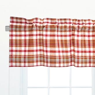 C&F Home Abingdon Plaid Hemstitched Cotton Window Curtain Valance Set of 2 - 15.5 x 72