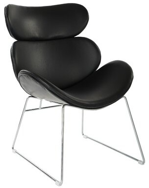 Orren Ellis East Village Lounge Chair Upholstery Color: White Faux Leather