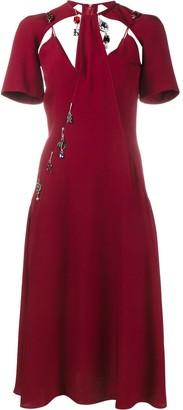 Christopher Kane Charm Embellished Dress