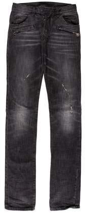 Balmain Distressed Skinny Biker Jeans w/ Tags