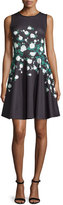 Erin Fetherston Suzie Floral-Print Dress, Black/Multi