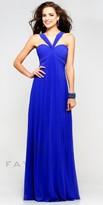 Faviana Chiffon Sweetheart V Neck Homecoming Dress