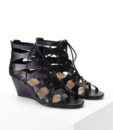 Forever 21 FOREVER 21+ Faux Leather Lace-Up Wedges