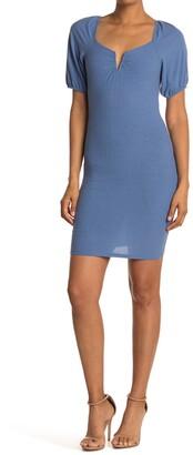 Luna Chix Wired V Short Sleeve Mini Dress