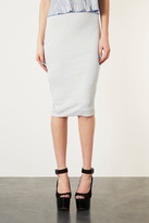 Topshop Glitter Puff Print Tube Skirt