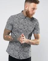 Asos Skinny Fit Batik Print Shirt