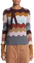 Marc Jacobs Women's Intarsia Chevron Cashmere Sweater