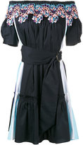 Peter Pilotto off-shoulder embroidered dress - women - Cotton/Polyamide/Polyester/Spandex/Elastane - 6