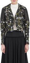 Erdem Women's Frazey Embroidered Moto Jacket