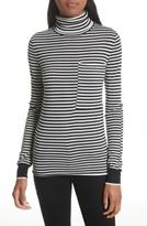 Joseph Women's Stripe Wool Turtleneck Sweater