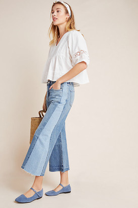 Citizens of Humanity Heidi Ultra High-Rise Cropped Wide-Leg Jeans By in Blue Size 27