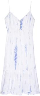 Rails Sky Blue Cloud Tie Dye Dress - S .