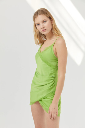 Urban Outfitters Margaux Satin Wrap Slip Dress