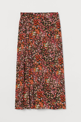 H&M Patterned Skirt - Orange