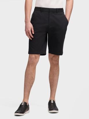 DKNY Men's Bedford Short With Side Stripes - Black - Size 31