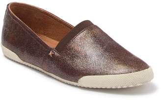 Frye Melanie Metallic Leather Lizard Embossed Slip-On Flat