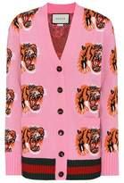 Gucci Jacquard wool cardigan