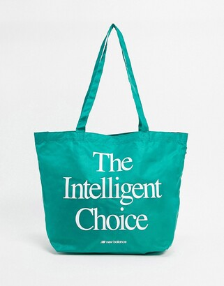 New Balance tote bag in teal