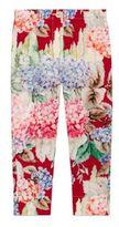 Gucci Little Girl's & Girl's Hydrangea-Print Silk Pants