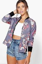 Boohoo Petite Felicity Floral Bomber Jacket