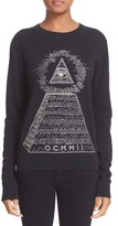 Opening Ceremony Women's 'Pyramid' Embroidered Cotton Sweater