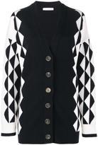 J.W.Anderson geometric knit cardigan - women - Merino - S