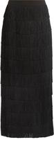 Stella McCartney Fringed silk-crepe skirt