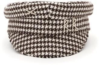 Ruslan Baginskiy Houndstooth Pattern Baker Boy Hat