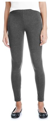 Joe Fresh Women's Essential Melange Legging, Charcoal Mix (Size M)