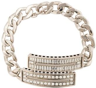 Maison Margiela Crystal Embellished Curb Chain Bracelet