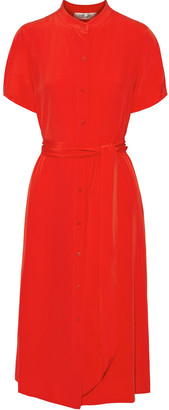 Diane von Furstenberg Addilyn Belted Silk Crepe De Chine Dress