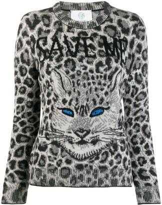 Alberta Ferretti Cat Print Jumper