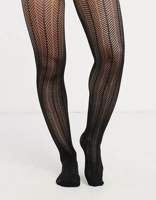 Gipsy crochet arrow tights in black