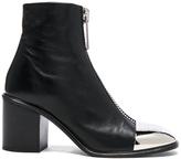 Proenza Schouler Metal Cap Toe Zip Front Boots in Black.