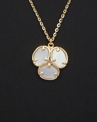 Italian Gold 14K Mother-Of-Pearl Flower Necklace