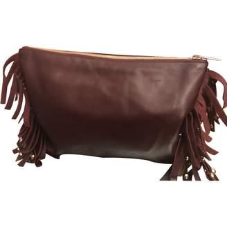 Vanessa Bruno Burgundy Leather Clutch bags