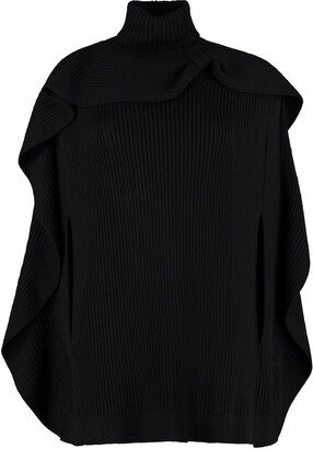 RED Valentino Knitted Wool Cape